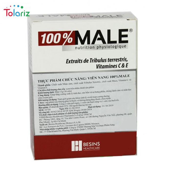 Thuốc 100% Male: Công Dụng, Liều Dùng, Giá Bán Bao Nhiêu?