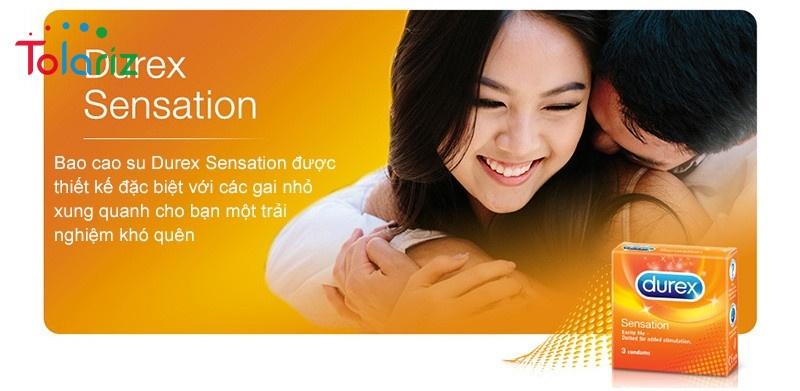 Durex Sensation siêu mỏng - Cho cảm xúc thăng hoa