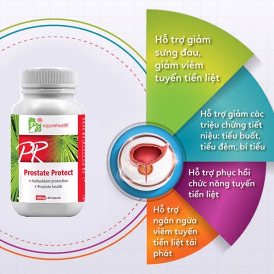 Prostate Protect: Giảm sưng đau, giảm viêm tuyết tiền liệt hiệu quả