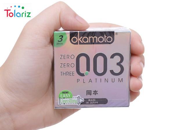 Bao cao su Okamoto Platinu 0.03