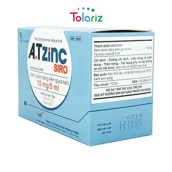 Thuốc A.T ZINC Siro 5ml: Dung Dịch Bổ Sung Kẽm Tốt Nhất