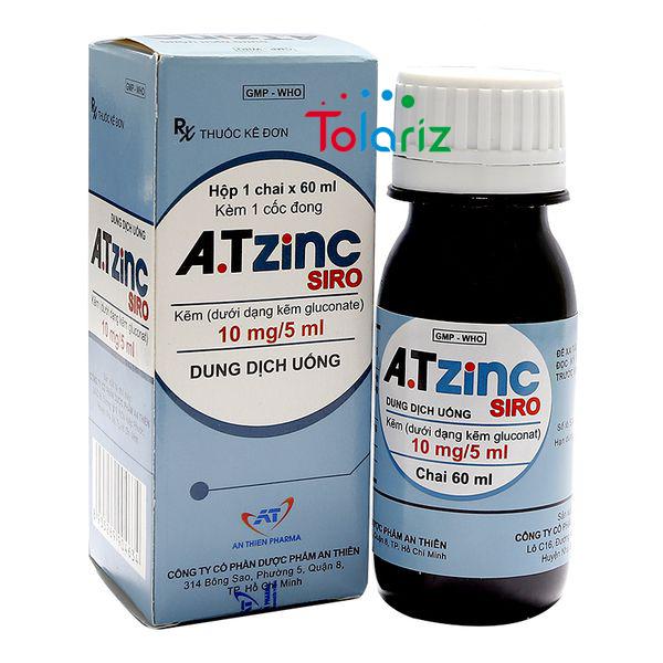 Thuốc A.T ZINC Siro 5ml: Tăng Cường Sinh Lý Nam Toàn Diện