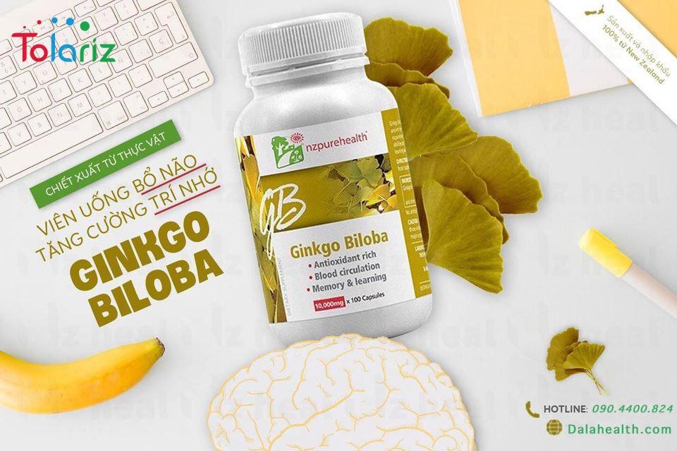 Viên uống bổ não Ginkgo Biloba NZPureHealth: Tăng cường trí lực hiệu quả