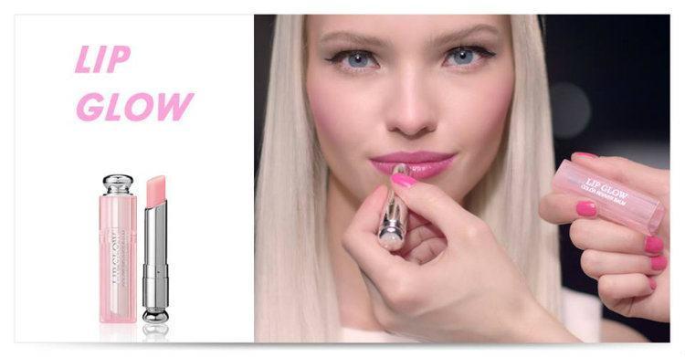 Son Dưỡng Dior Addict Lip Glow mã 001 màu hồng lên môi màu cực đẹp