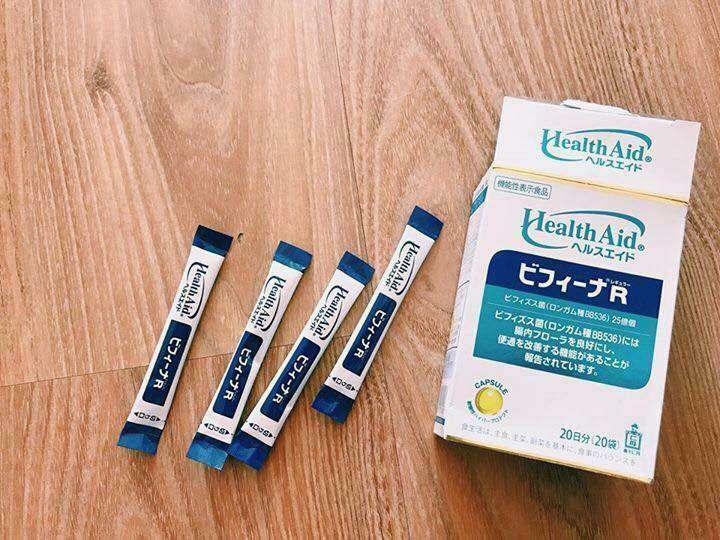 Bột men vi sinh Health Aid Bifina R - 20 gói là một thực phẩm chức năng bổ sung lợi khuẩnlactobacillus , bifidobacterium và chất xơ oligosaccharide.