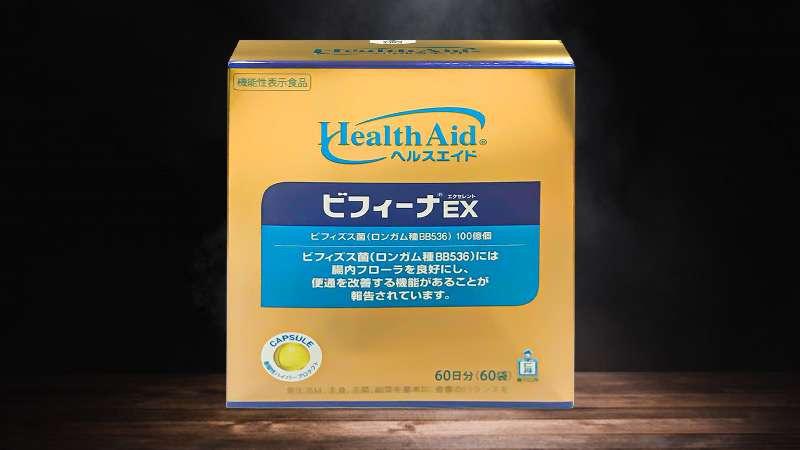 Bột men vi sinh Healthaid Bifina Ex 60 gói Nhật Bản thực phẩm chức năng bổ sung lợi khuẩn bifidobacterium, lactobacillus và chất xơ oligosaccharide vào ruột