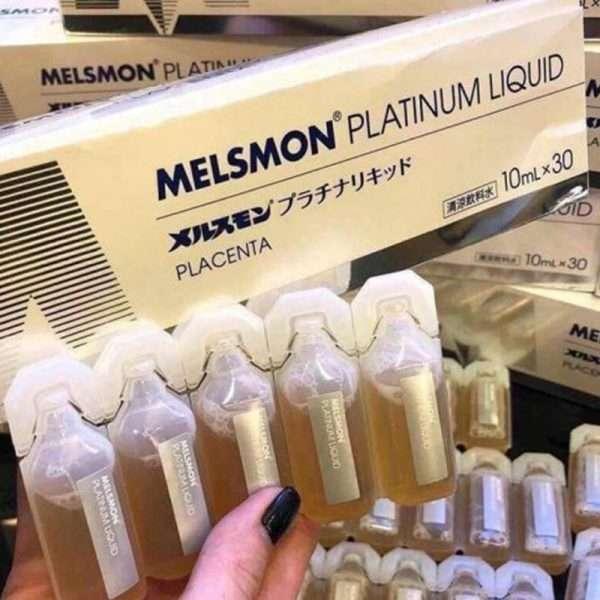 Nước uống nhau thai Melsmon Platinum liquid Nhật Bản