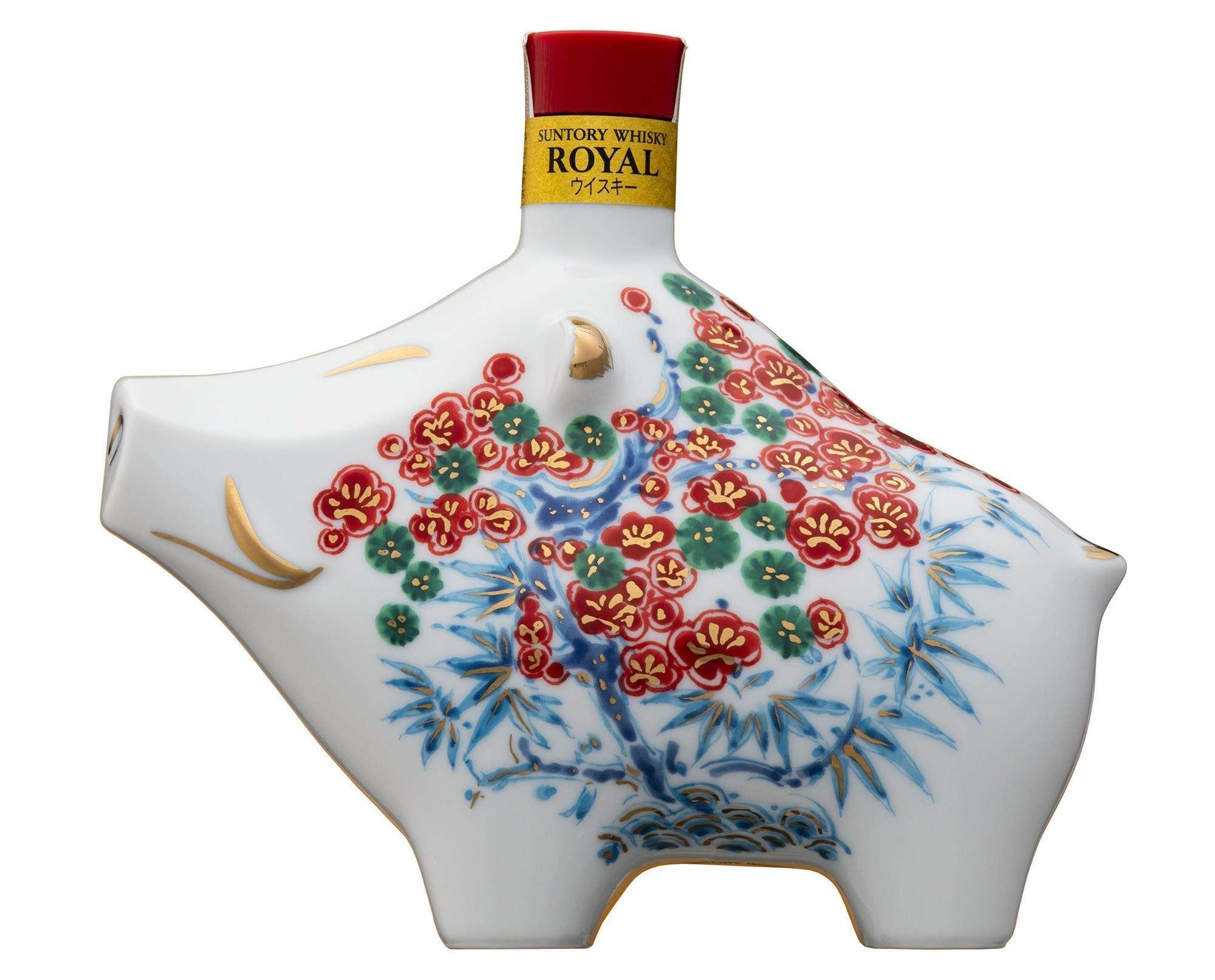 Rượu con heo Suntory Whisky Royal Nhật Bản
