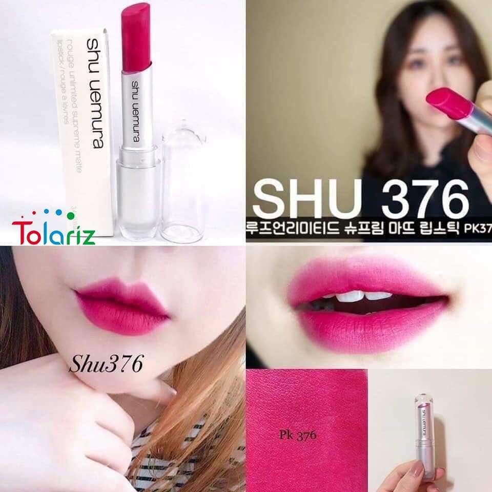 Son Shu Uemura 376 màu hồng cánh sen là sản phẩm cao cấp thuộc dòng son Matte (son lì) của Shu Ueruma – nhà sản xuất mỹ phẩm hàng đầu Nhật Bản.