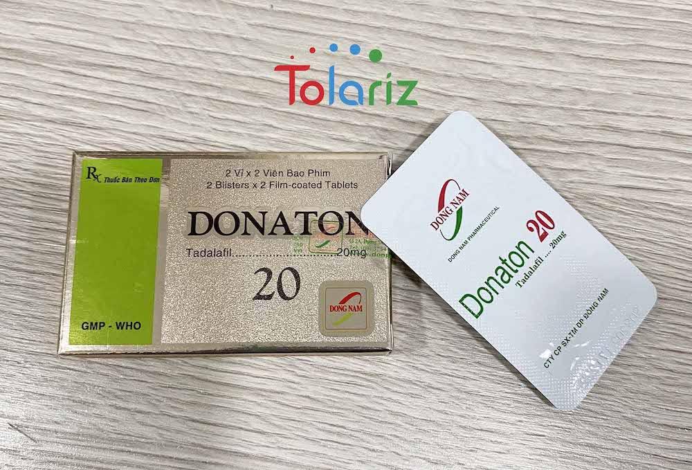 Donaton 20mg có thành phần chính Tadalafil