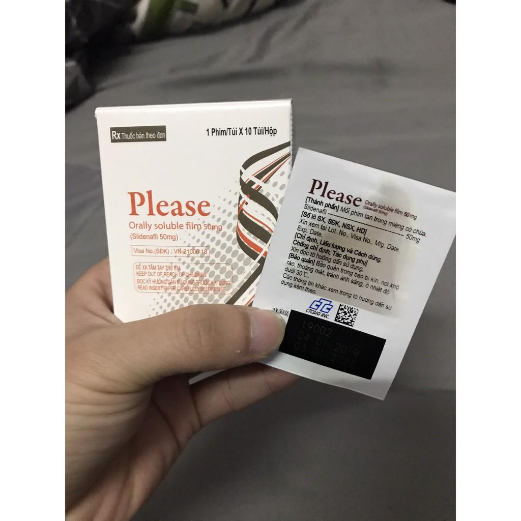 Thuốc Please Orally Soluble Film công dụng hỗ trợ điều trị bệnh rối loạn cương dương, hỗ trợ độ cương khi quan hệ
