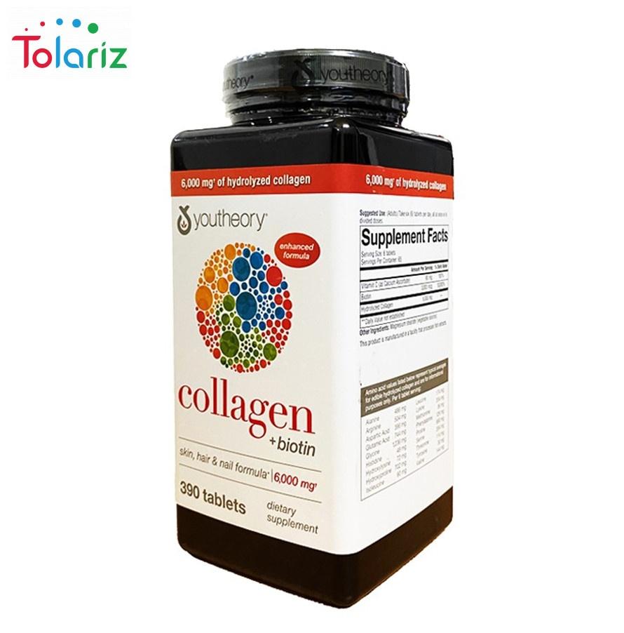 Collagen Youtheory: Công Dụng, Cách Dùng Hiệu Quả, Giá Bao Nhiêu 390 Viên?
