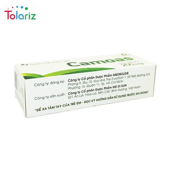 Hướng dẫn dùng thuốc Camoas hiệu quả, phương pháp điều trị đường tiết niệu