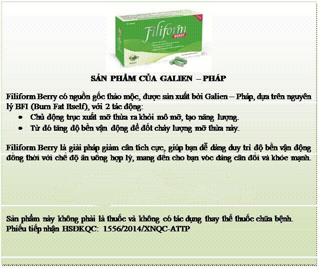 Viên uống giảm cân Filifrom: Cách dùng, giá bao nhiêu, mua ở đâu?