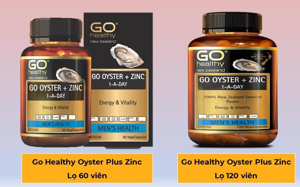 Tinh chất hàu go healthy go oyster plus zinc 60 và 120 viên